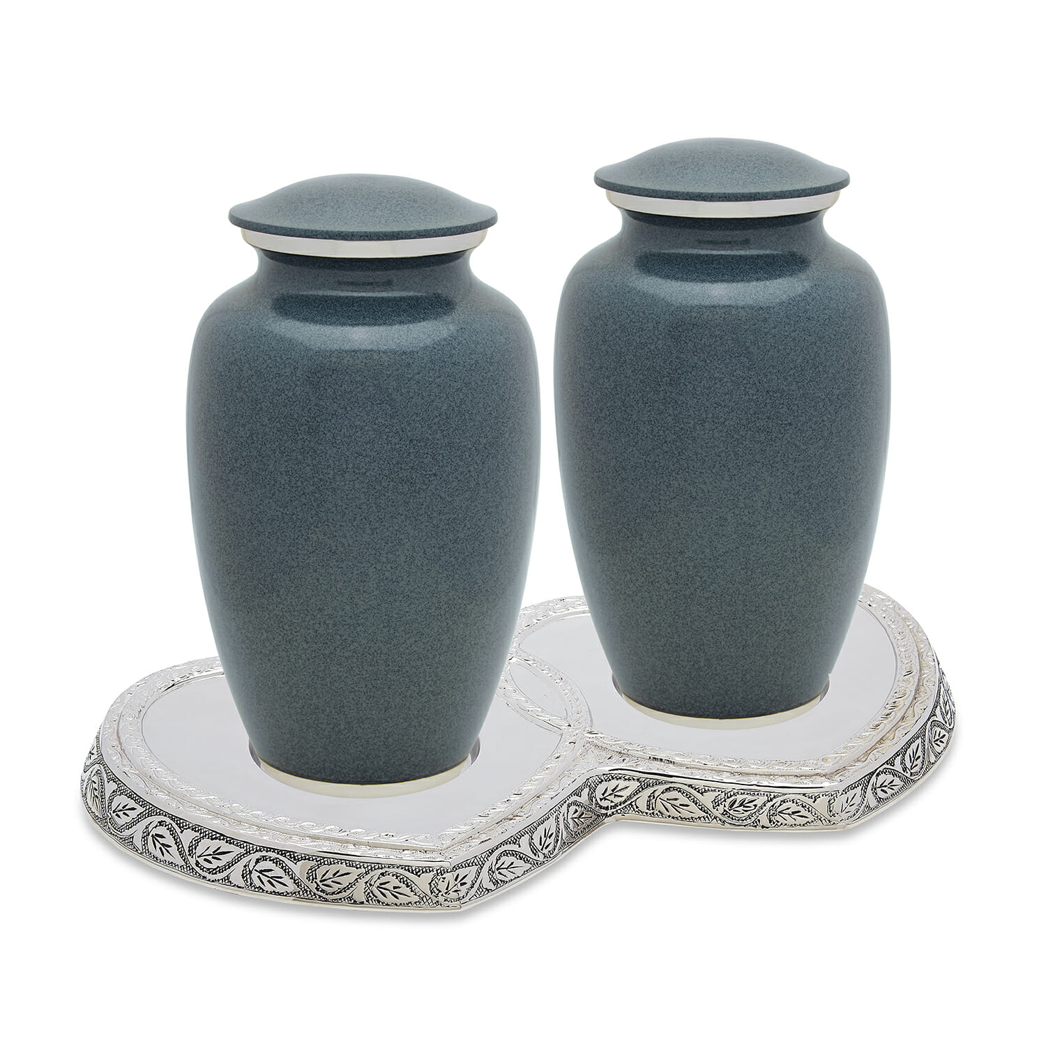 Grey Wolf Granite Companion Urn Set